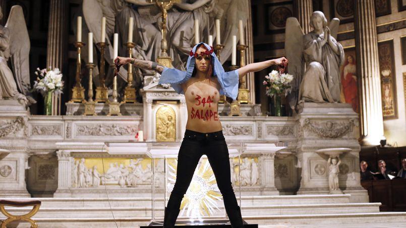 FRANCE-RELIGION-FEMEN-PROTEST-ABORTION
